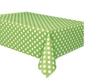 Ubrus zeleno - bílé tečky 137cm x 274cm