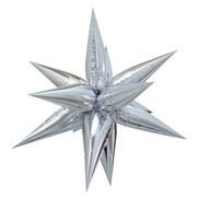 Hvězda stříbrná 100 cm 3D foliový balón