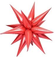 Hvězda červená 70 cm 3D foliový balón