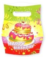 Taška šťastné narozeniny dort 6ks