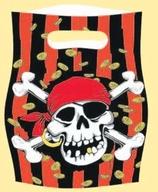Piráti 6ks party taška 16cm x 23cm