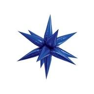 Hvězda modrá 70 cm 3D foliový balón