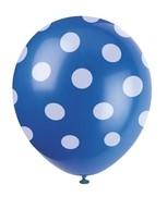 Balónky modré s puntíky 6ks
