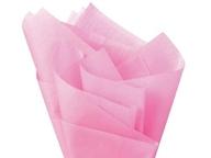 Hedvábný papír světle růžový 10ks 51cm x 66cm