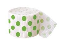 Krepový papír zeleno - bílý 9,14m