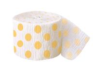 Krepový papír žluto - bílý 9,14m
