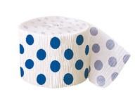 Krepový papír modro - bílý 9,14m