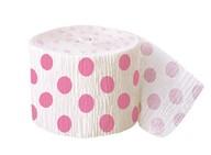 Krepový papír růžovo - bílý 9,14m