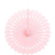 Papírová dekorace světle růžová 40cm