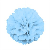 Papírová dekorace světle modrá 40cm