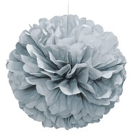 Papírová dekorace stříbrná 40cm