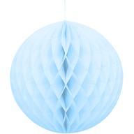 Papírová dekorace kulatá světle modrá 20cm