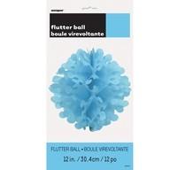 Papírová dekorace kulatá světle modrá 30,4cm
