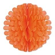 Papírová dekorace kulatá oranžová 30,4cm
