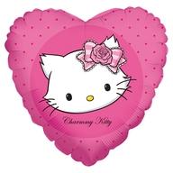 Fóliový balónek Kitty srdce 45cm