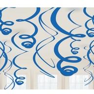 Závěsná dekorace royal blue 12ks 55,8cm