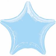 Balonek foliový hvězda Blue Metallic Pearl