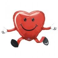 Balonek chodící foliový srdce 48cm