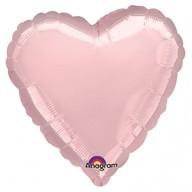 Balonek foliový srdce Pink Metallic Pearl