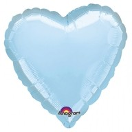 Balonek foliový srdce Blue Metallic Pearl