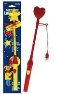 Držák na lampiony s blikajícím srdíčkem / hvězdou 34cm