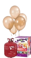 Helium Balloon time + balónky zlaté metalické