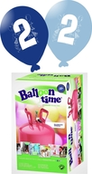 Helium Balloon time + balónky s číslem 2 modré 30ks