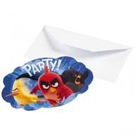 Angry Birds Movie pozvánky na party 8ks