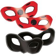 Kouzelná beruška a černý kocour maska na oči 8 ks