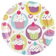 Muffiny talíře 8ks 23cm