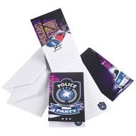 Police pozvánky na party 8ks