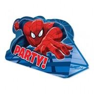 Spiderman pozvánky na party 8ks