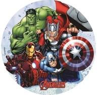 Jedlý papír Avengers 18,5 cm