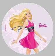 Jedlý papír Barbie 21cm