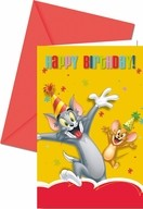 Tom and Jerry pozvánky na party 6ks