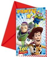Toy Story pozvánky na party 6ks