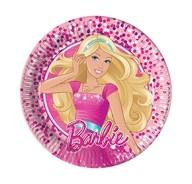 Barbie talíře 8ks 20cm