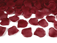 Okvětní lístky růže tmavě červené 100ks
