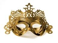 Maska zlatá s ornamentem