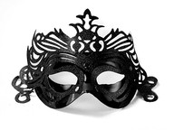 Škraboška černá s ornamentem