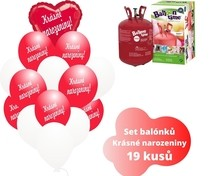Helium set s balónky s českým potiskem