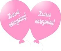 Balónky s českým potiskem