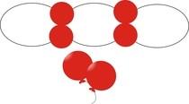 Balónky malé dekorační