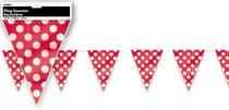Vlajka červeno - bílé tečky 3,65m