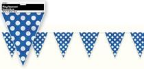 Vlajka modro - bílé tečky 3,65m