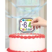 Dekorace na dort k narozeninám s číslem