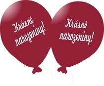 Balónek vínový Krásné narozeniny!