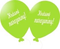 Balónek světle zelený Krásné narozeniny!