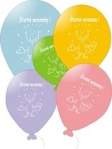 Balonky na narozeniny s potiskem 5ks mix