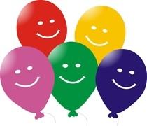 Balónek s motivem smajlík